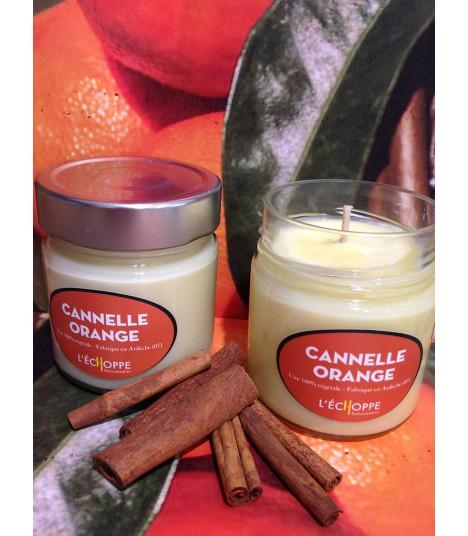 Bougie parfumée à la cannelle et à l'orange (cire végétale)