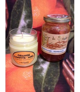 Bougie parfumée à l'orange confite et au miel (cire végétale)