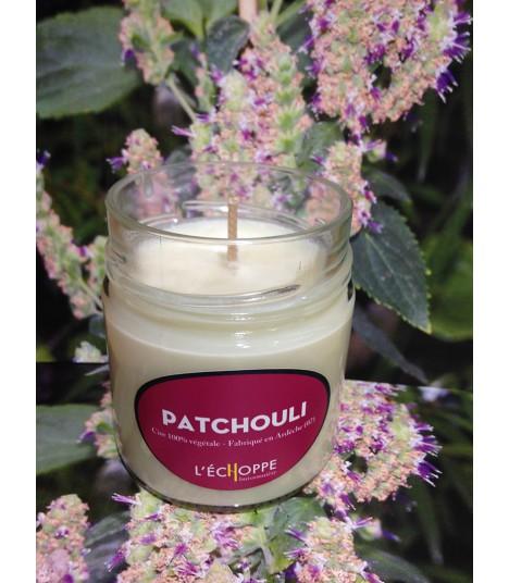 Bougie parfumée au patchouli (cire végétale)