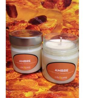 Bougie parfumée au ambre (cire végétale)