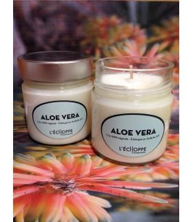 Bougie parfumée à l'aloé vera (cire végétale)