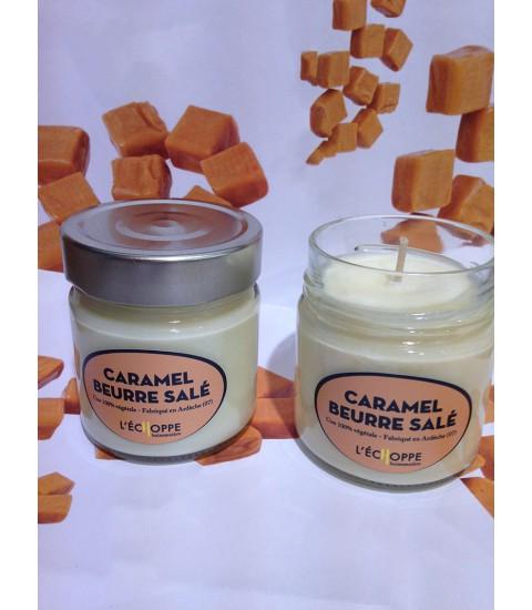 Bougie parfumée aux caramel beurre salé (cire végétale)