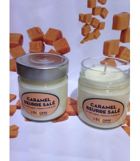 Bougie parfumée au caramel beurre salé (cire végétale)