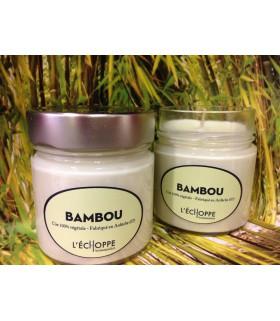 Bougie parfumée au bambou (cire végétale)