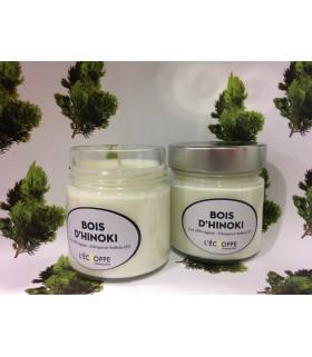 Bougie parfumée au bois d'Hinoki (cire végétale)