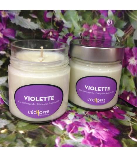 Bougie parfumée a la violette (cire végétale)