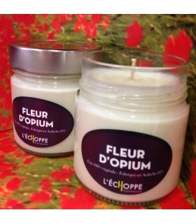 Bougie parfumée à la fleur d'opium (cire végétale)