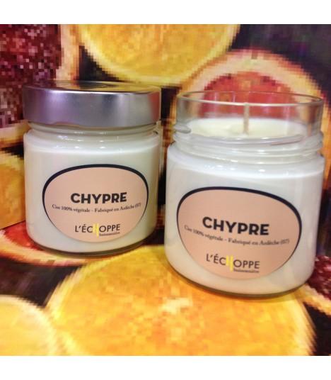 Bougie parfumée au chypre (cire végétale)