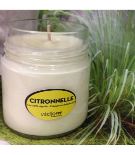 Bougie parfum citronnelle (cire végétale)
