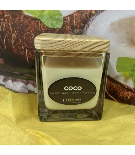 Bougie parfumée aux coco (cire végétale)