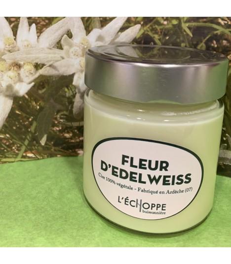Bougie parfumée a l'edelweiss (cire végétale)