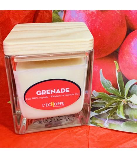 Bougie cire végétale parfumée à la grenade