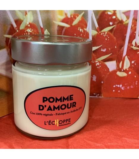 Bougie parfumée pomme d'amour (cire végétale)