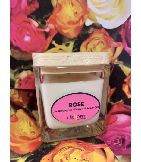 Bougie parfumée à la rose (cire végétale)