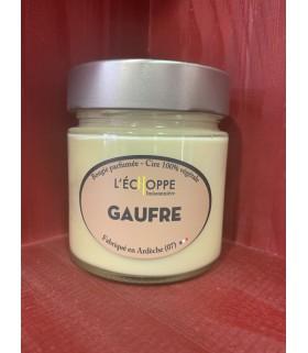 Bougie parfumée à la gaufre (cire végétale)