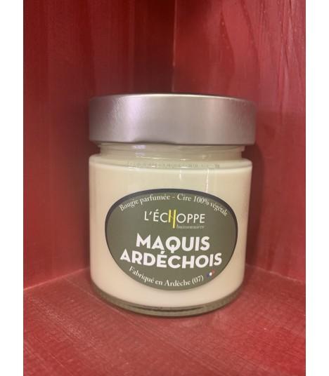 Bougie parfumée au Maquis ardéchois (cire végétale)