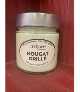 Bougie parfumée au Nougat grillé (cire végétale)