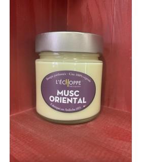 Bougie parfumée au Musc Oriental (cire végétale)