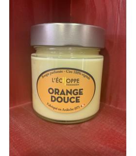 Bougie parfumée Orange Douce (cire végétale)