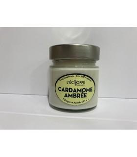 Bougie parfumée à la Cardamome Ambrée (cire végétale)